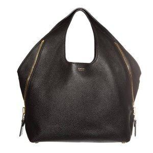 TOM FORD Large Jennifer SideZip Black Leather Bag